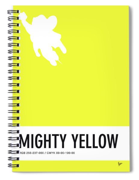 No02 My Minimal Color Code Poster Mighty Mouse Spiral Notebook