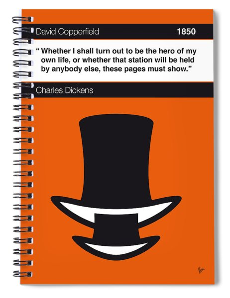 No020-my-david Copperfield-book-icon-poster Spiral Notebook
