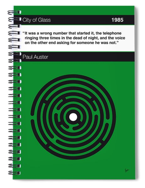 No024-my-city Of Glass-book-icon-poster Spiral Notebook
