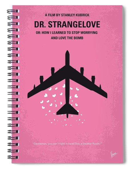 No025 My Dr Strangelove Minimal Movie Poster Spiral Notebook