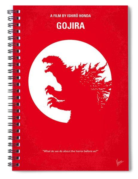 No029-1 My Godzilla 1954 Minimal Movie Poster Spiral Notebook