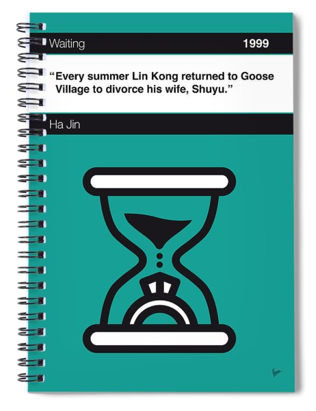 No029-my-waiting-book-icon-poster Spiral Notebook
