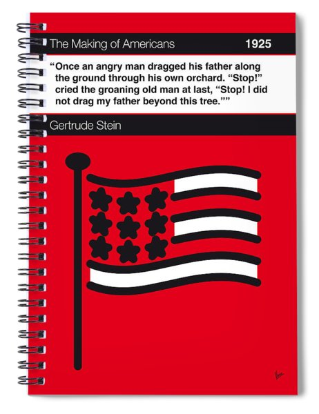 No033-my-the Making Of Americans-book-icon-poster Spiral Notebook