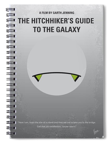 No035 My Hitchhiker Guide Minimal Movie Poster Spiral Notebook