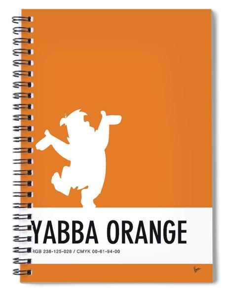 No04 My Minimal Color Code Poster Fred Flintstone Spiral Notebook