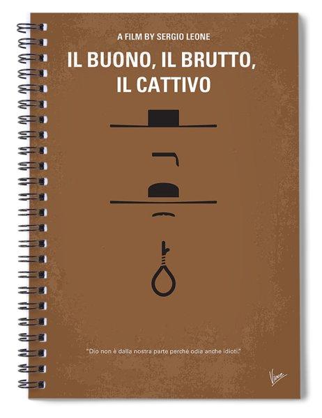 No042 My Il Buono Il Brutto Il Cattivo Minimal Movie Poster Spiral Notebook
