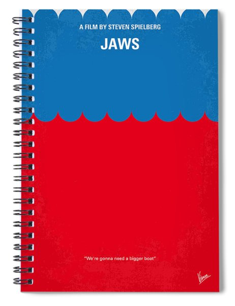 No046 My Jaws Minimal Movie Poster Spiral Notebook