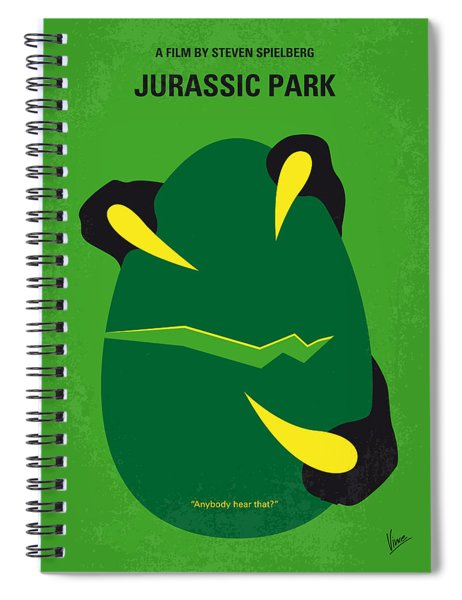 No047 My Jurassic Park Minimal Movie Poster Spiral Notebook