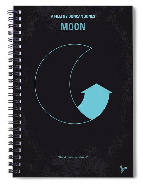 No053 My Moon 2009 Minimal Movie Poster Spiral Notebook