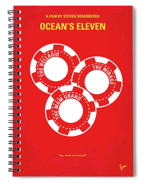 No056 My Oceans 11 Minimal Movie Poster Spiral Notebook