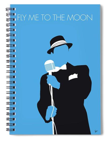 No059 My Sinatra Minimal Music Poster Spiral Notebook