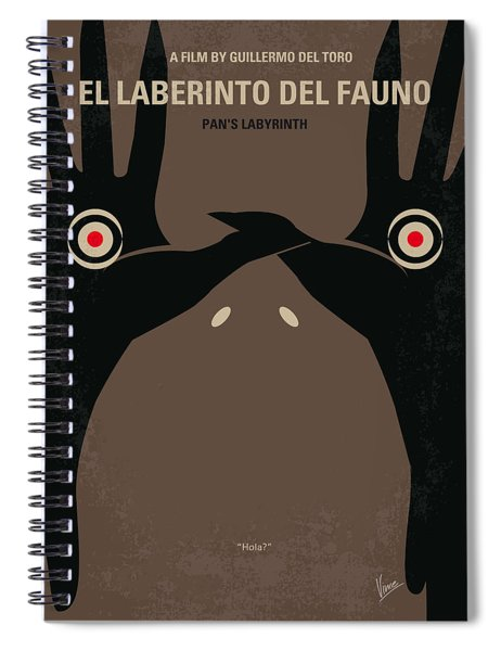 No061 My Pans Labyrinth Minimal Movie Poster Spiral Notebook