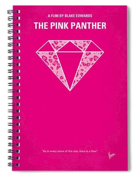 No063 My Pink Panther Minimal Movie Poster Spiral Notebook