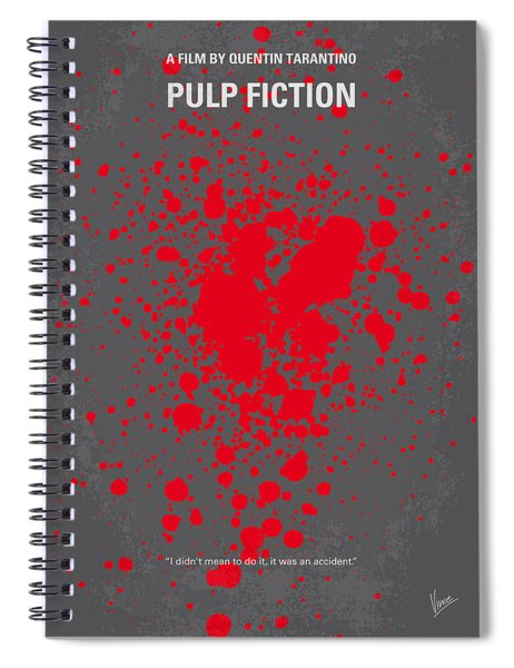 No067 My Pulp Fiction Minimal Movie Poster Spiral Notebook
