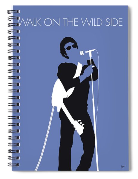 No068 My Lou Reed Minimal Music Poster Spiral Notebook