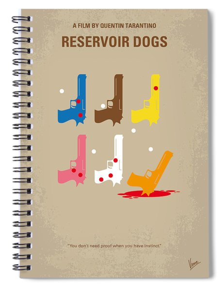 No069 My Reservoir Dogs Minimal Movie Poster Spiral Notebook
