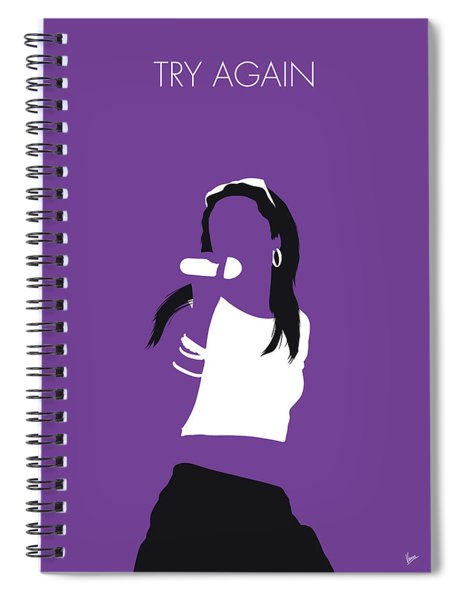 No071 My Aaliyah Minimal Music Poster Spiral Notebook