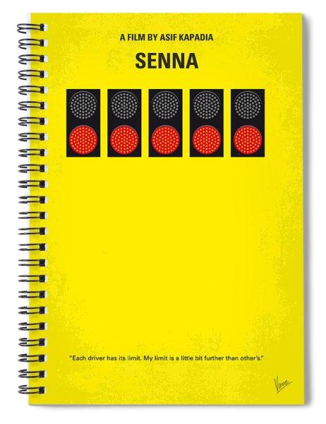 No075 My Senna Minimal Movie Poster Spiral Notebook