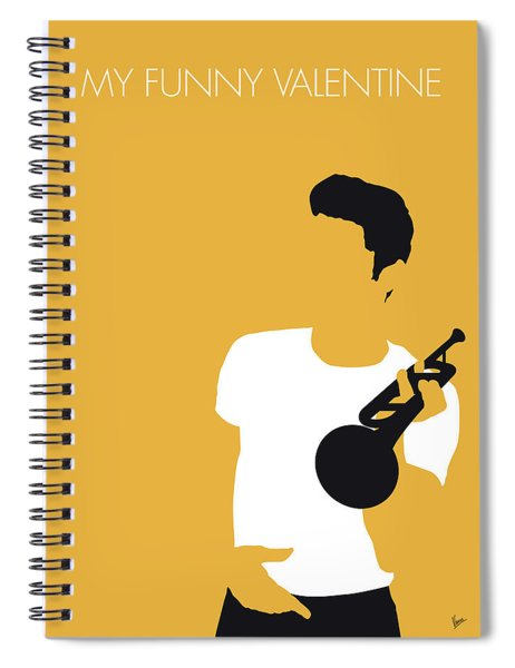 No084 My Chet Baker Minimal Music Poster Spiral Notebook