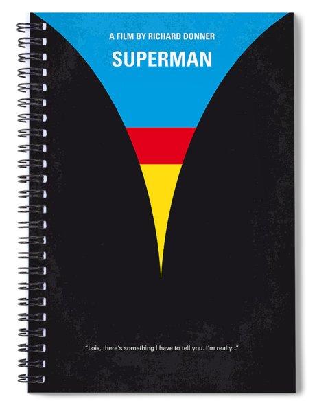 No086 My Superman Minimal Movie Poster Spiral Notebook