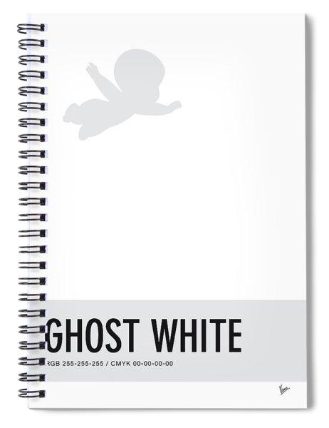 No09 My Minimal Color Code Poster Casper Spiral Notebook