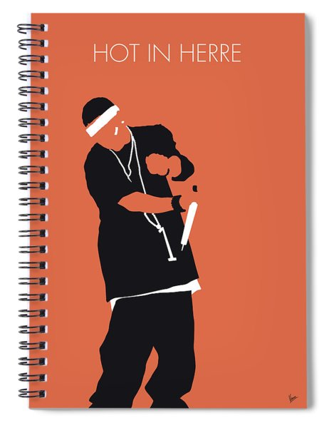 No093 My Nelly Minimal Music Poster Spiral Notebook