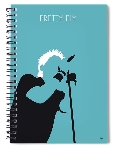 No095 My The Offspring Minimal Music Poster Spiral Notebook