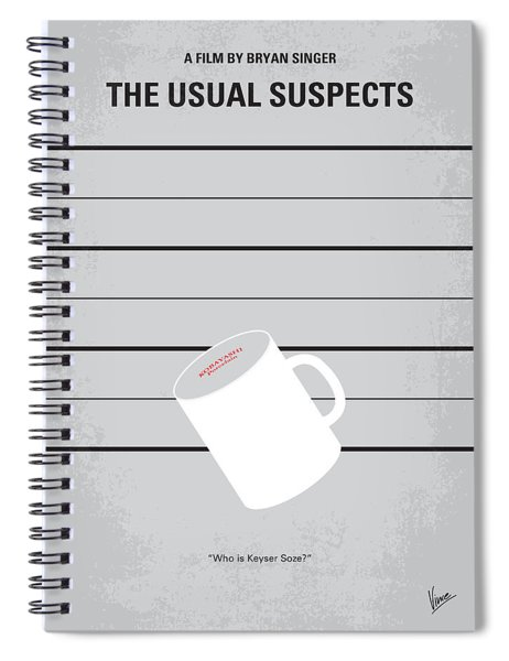 No095 My The Usual Suspects Minimal Movie Poster Spiral Notebook