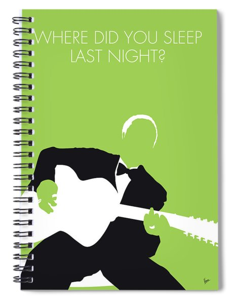 No096 My Lead Belly Minimal Music Poster Spiral Notebook