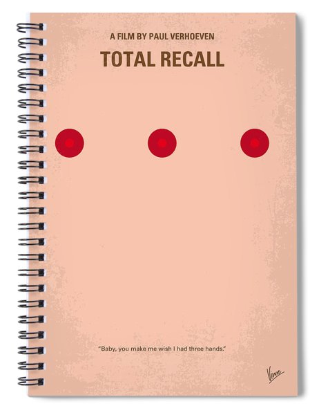 No097 My Total Recall Minimal Movie Poster Spiral Notebook