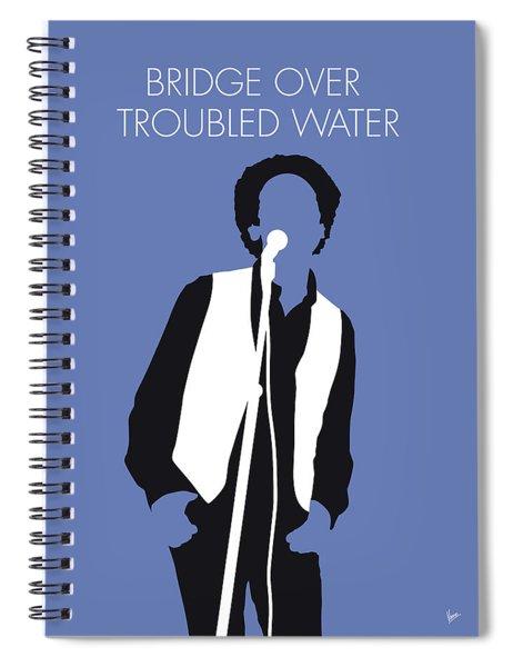 No098 My Art Garfunkel Minimal Music Poster Spiral Notebook