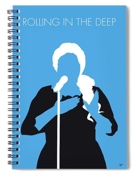 No099 My Adele Minimal Music Poster Spiral Notebook