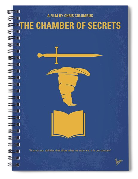 No101-2 My Hp - Chamber Of Secrets Minimal Movie Poster Spiral Notebook