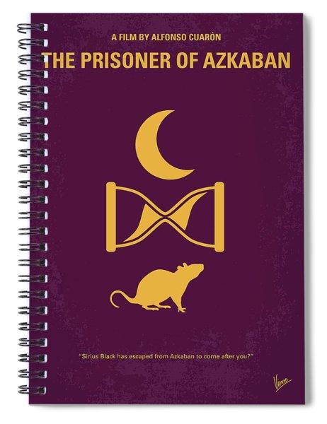 No101-3 My Hp - Prisoner Of Azkaban Minimal Movie Poster Spiral Notebook