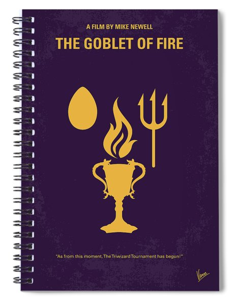 No101-4 My Hp - Goblet Of Fire Minimal Movie Poster Spiral Notebook