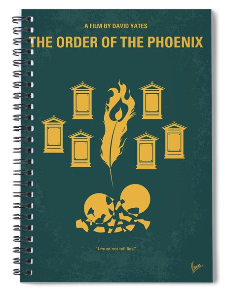 No101-5 My Hp - Order Of The Phoenix Minimal Movie Poster Spiral Notebook