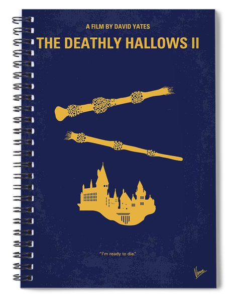 No101-8 My Hp - Deathly Hallows II Minimal Movie Poster Spiral Notebook