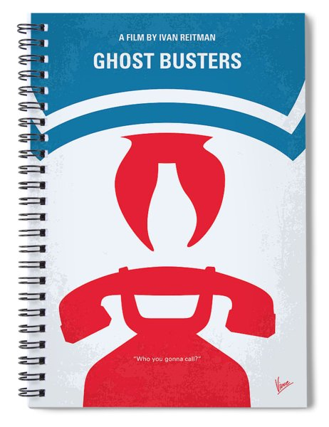 No104 My Ghostbusters Minimal Movie Poster Spiral Notebook