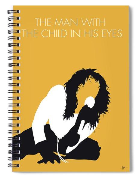 No104 My Kate Bush Minimal Music Poster Spiral Notebook