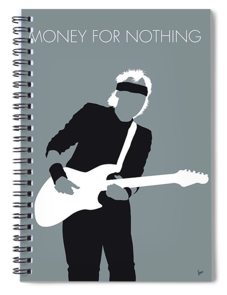 No107 My Mark Knopfler Minimal Music Poster Spiral Notebook