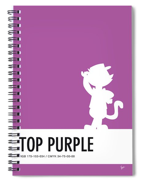 No11 My Minimal Color Code Poster Top Cat Spiral Notebook