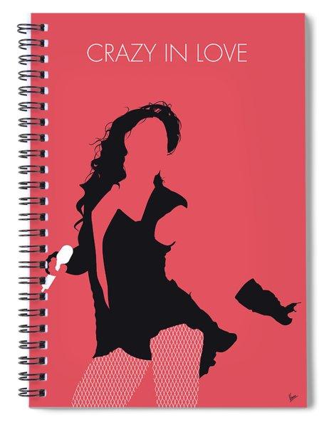 No122 My Beyonce Minimal Music Poster Spiral Notebook