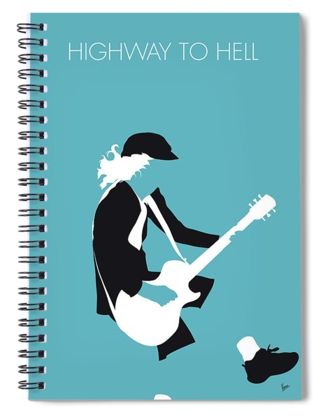 No125 My Acdc Minimal Music Poster Spiral Notebook