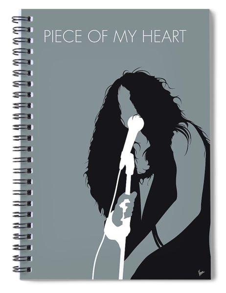 No127 My Janis Joplin Minimal Music Poster Spiral Notebook