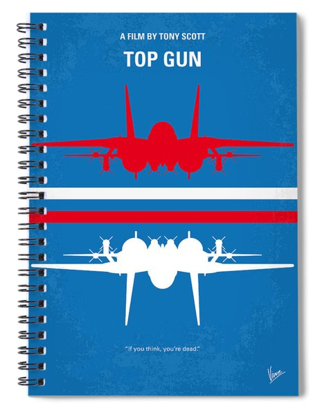 No128 My Top Gun Minimal Movie Poster Spiral Notebook