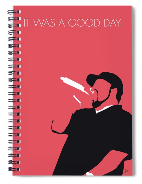 No132 My Ice Cube Minimal Music Poster Spiral Notebook