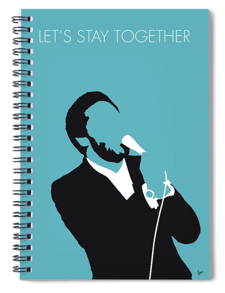 No135 My Al Green Minimal Music Poster Spiral Notebook