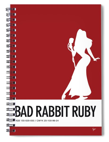 No14 My Minimal Color Code Poster Jessica Rabbit Spiral Notebook