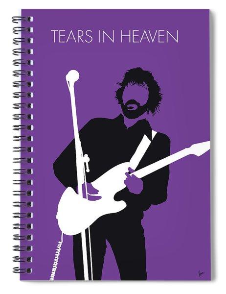 No141 My Eric Clapton Minimal Music Poster Spiral Notebook