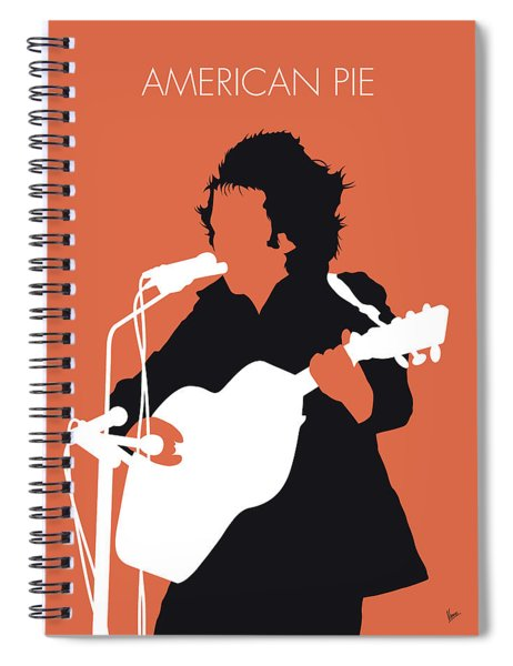 No143 My Don Mclean Minimal Music Poster Spiral Notebook
